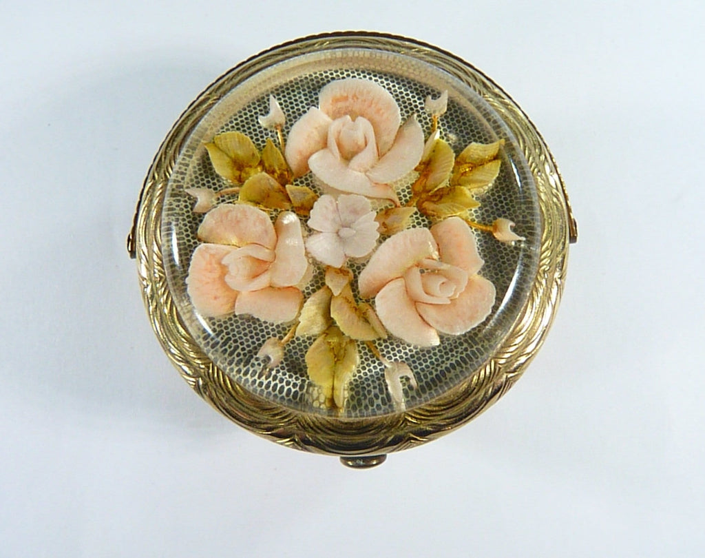 Antique Perspex Powder Compact