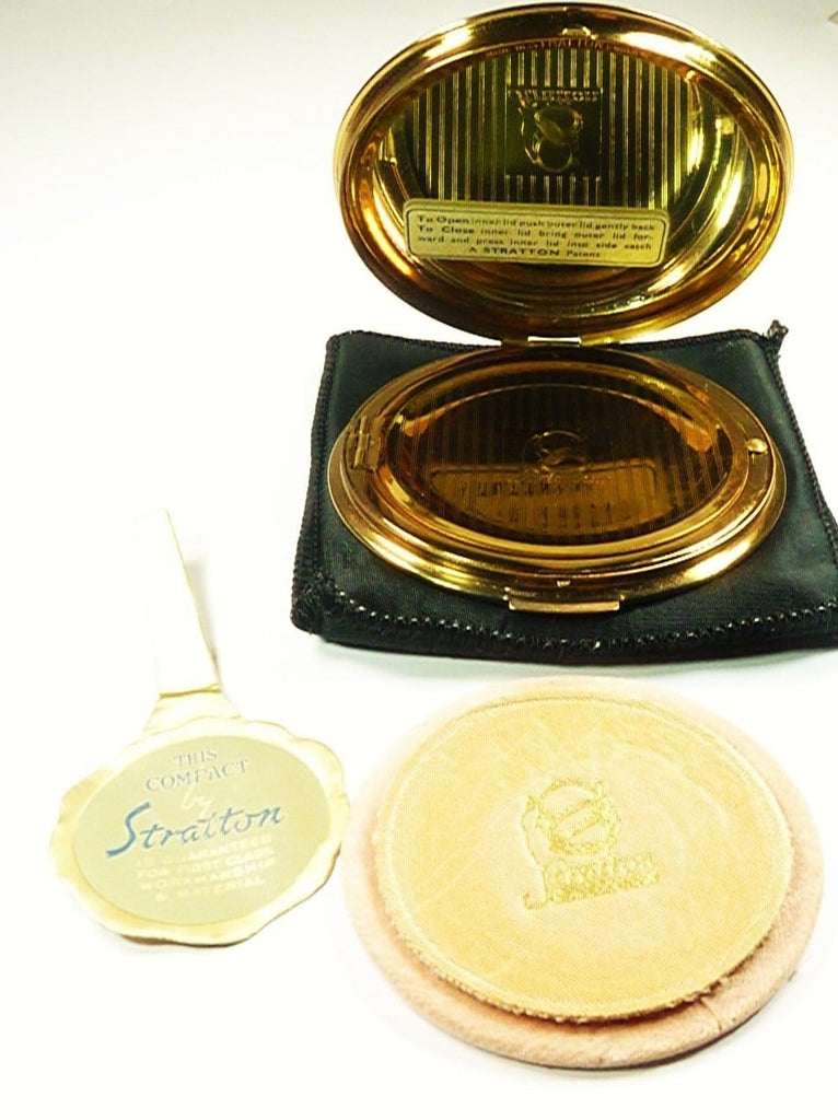 Antique Powder Compact Mirror