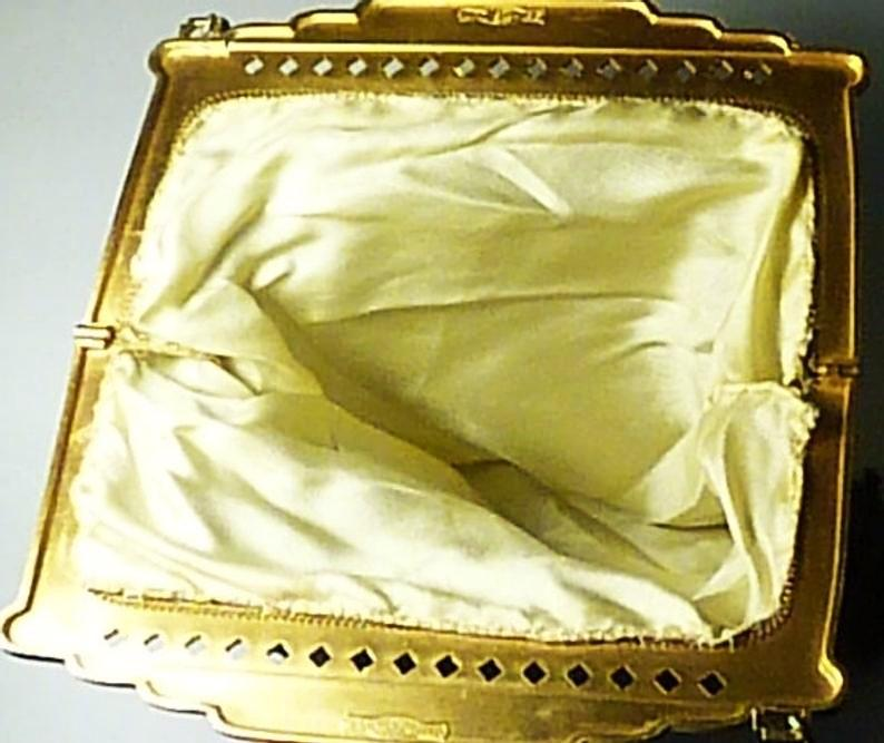 Antique Purse With Original Silk Lining