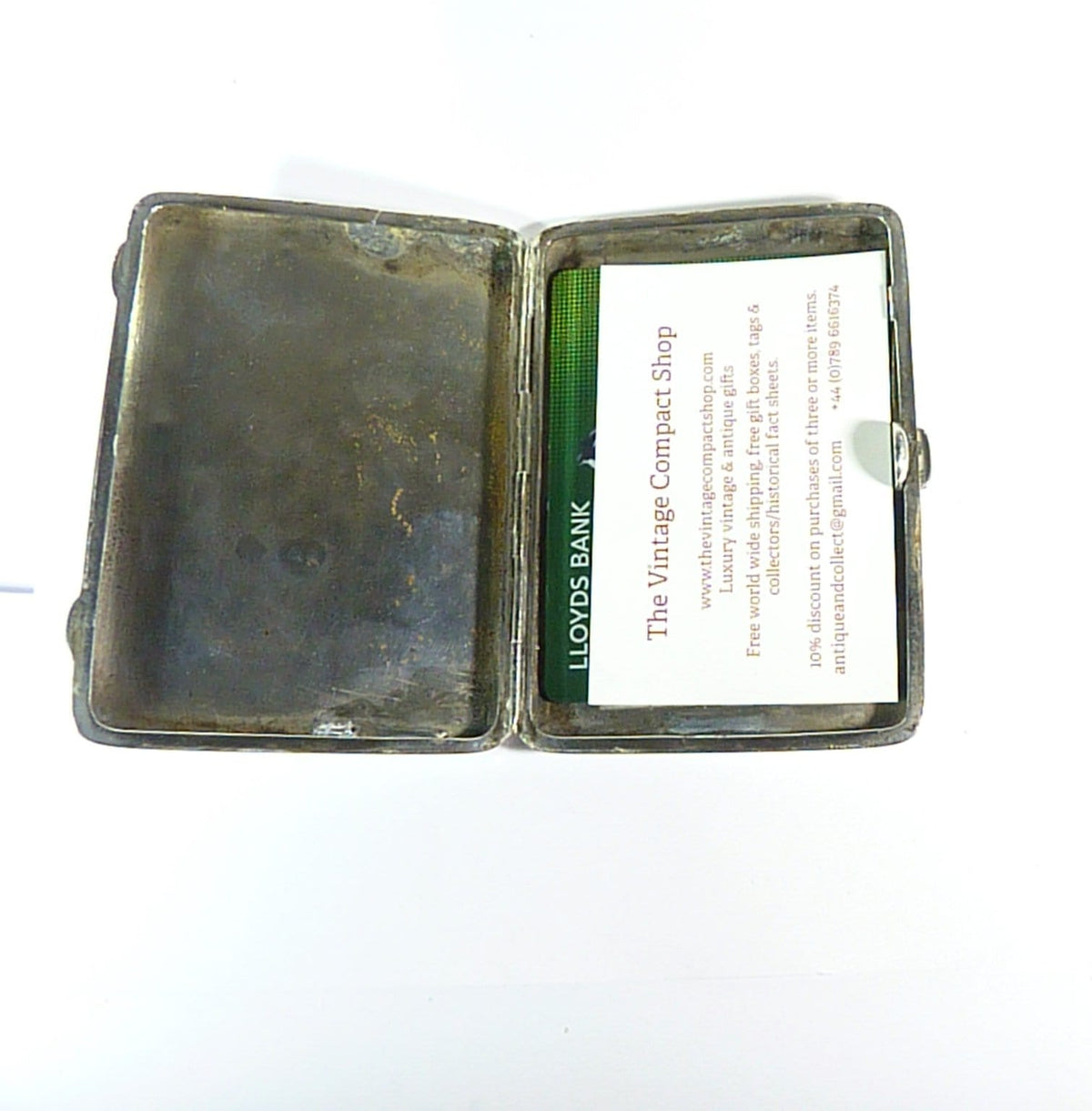 Large Victorian Sterling Silver Business Card Cigarette Case 1887 97mm Cigarettes