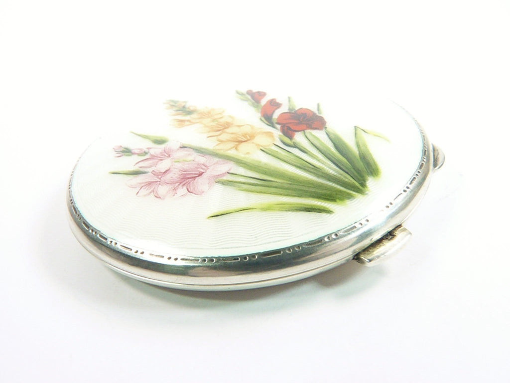 Antique Silver Loose Powder Compact
