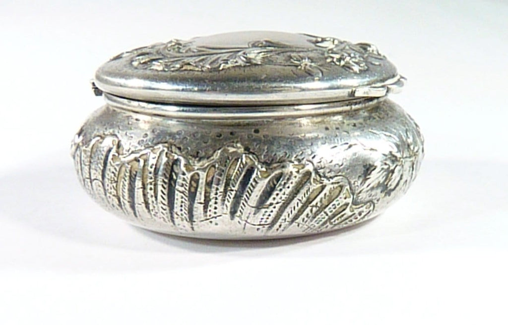Antique Silver Powder Box Dressing Table Ornament Film Props