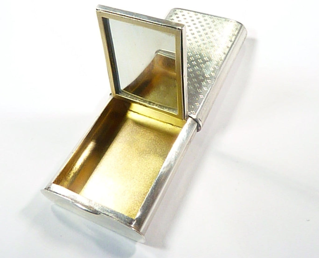 Antique Solid Silver Compact Mirror