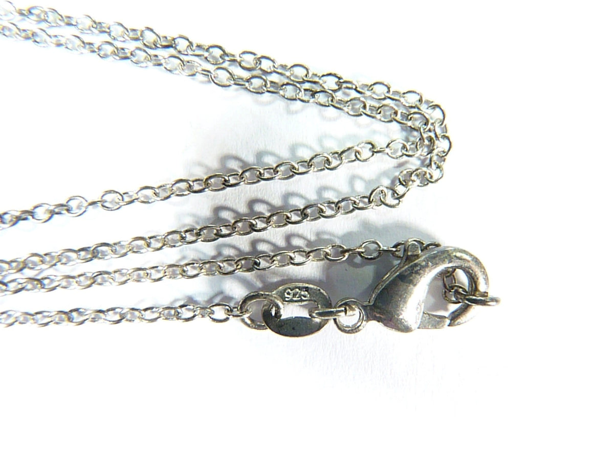 Antique Sterling Chain With Lobster Claw Catch