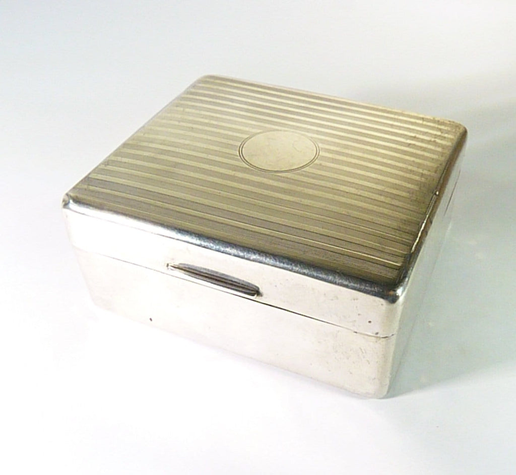 Art Deco sterling silver cigarette box 1929