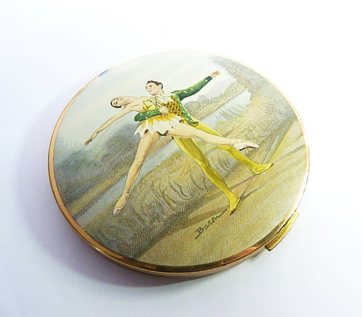 Stratton Ballet Powder Compact For Loose And Pressed Powder 1960s