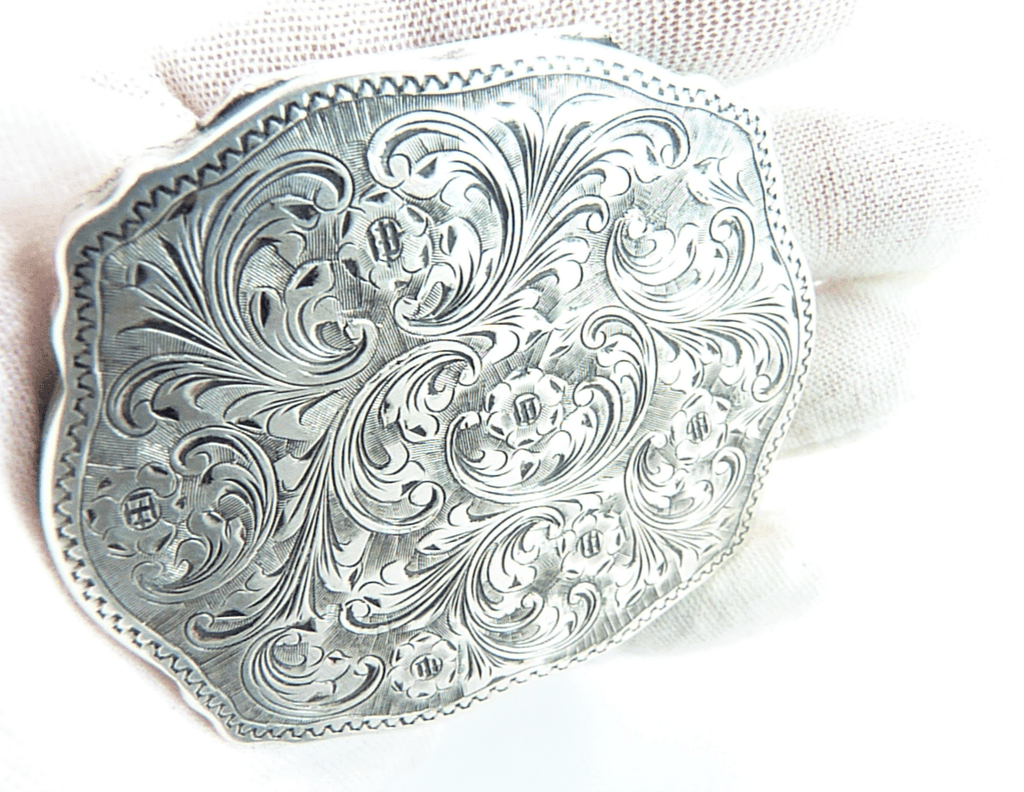 Beautiful Italian Silver Handbag Mirror