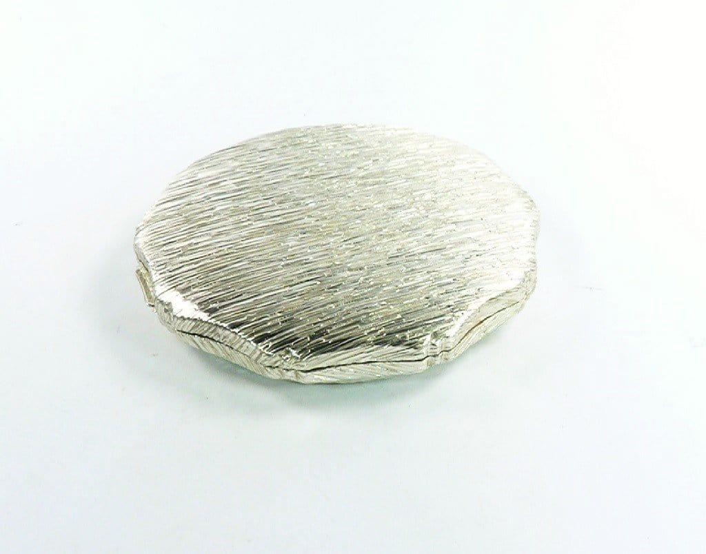 Beautiful Textured Solid Silver Makeup Compact