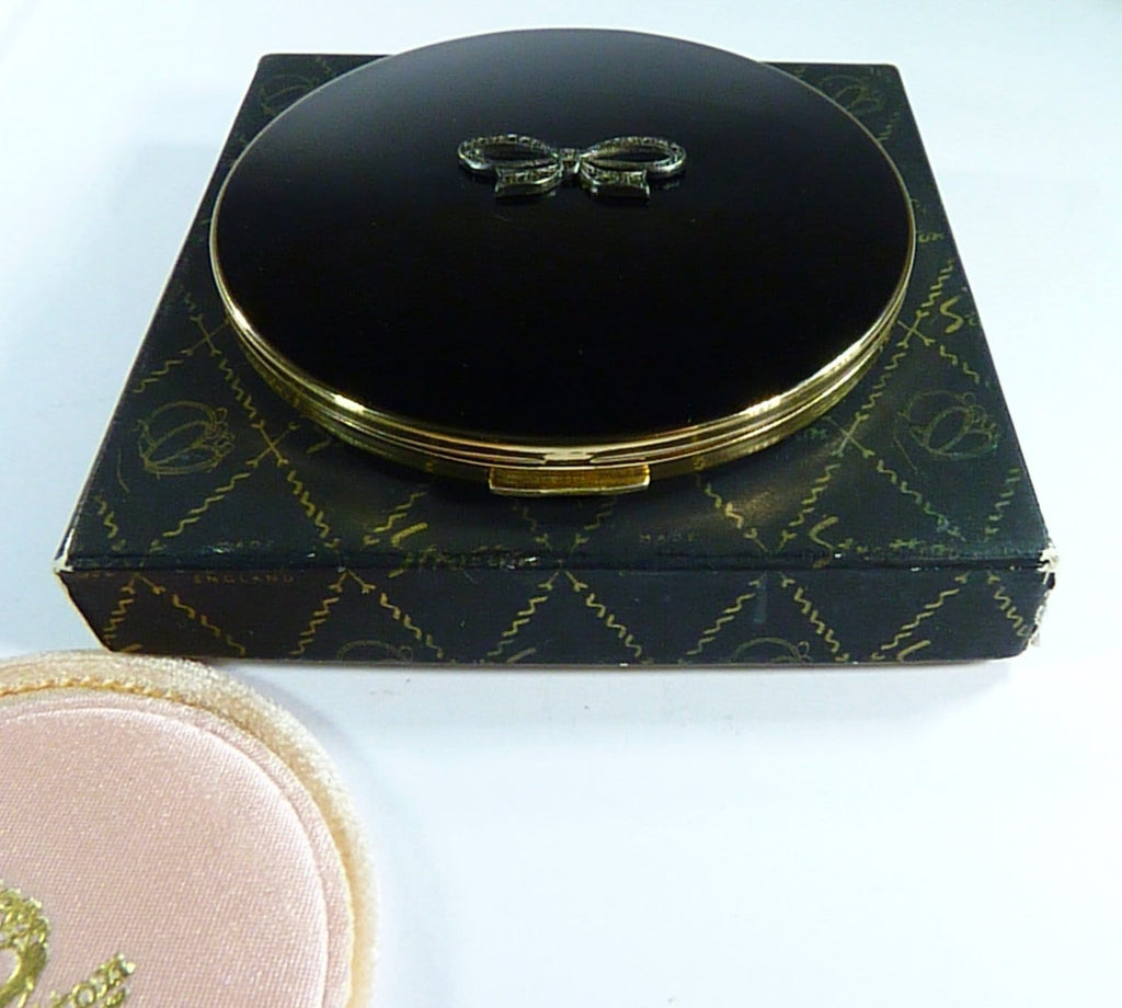 Black And Silver Stratton Compact For Max Factor Creme Puff