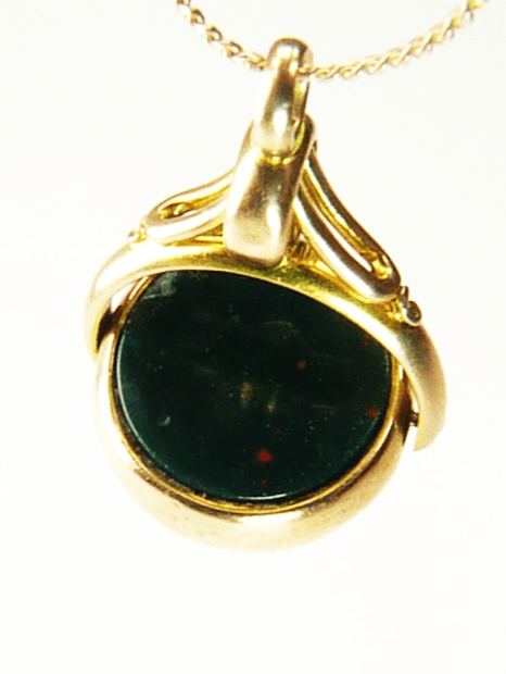 Bloodstone Hallmarked Gold Fob