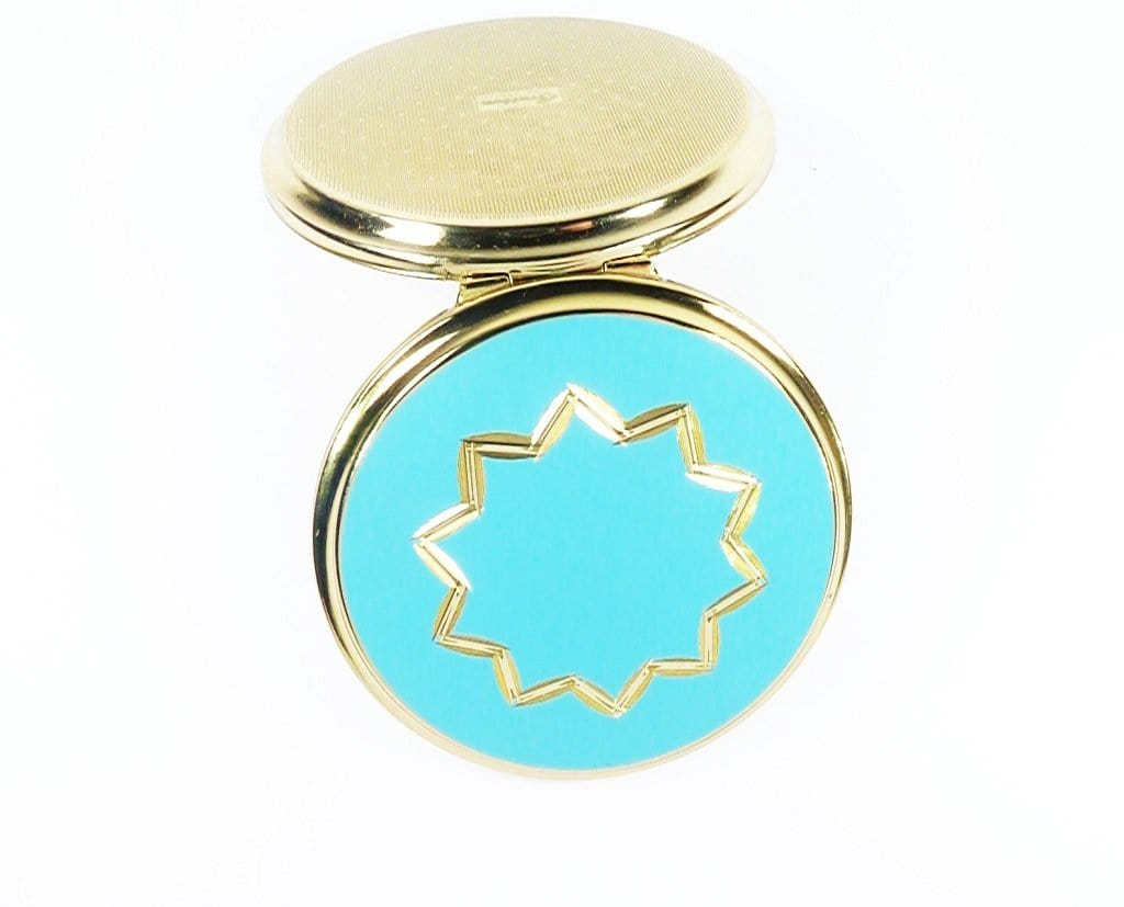 Blue And Gold Compact Mirror