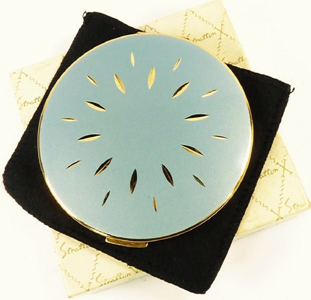 Blue Enamel Stratton Compact Mirror