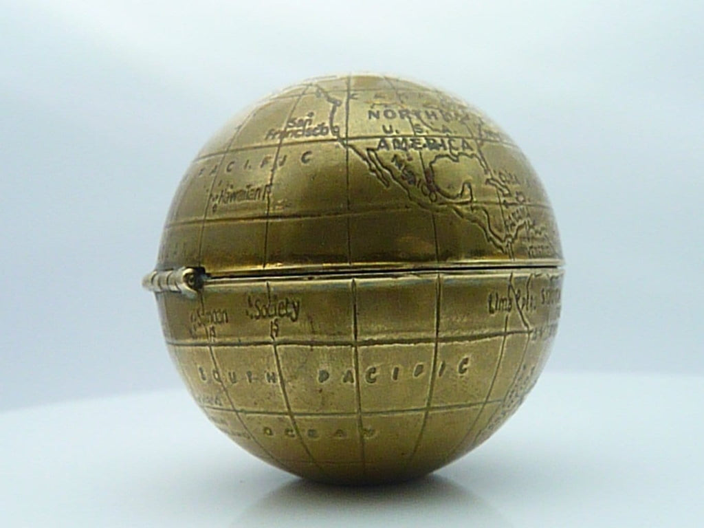 Book Piece Powder Compact Globe