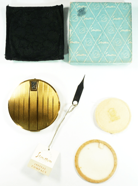 Boxed Stratton Initial Powder Compact