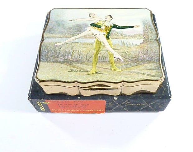 Stratton Musical Powder Box Ballet Themed Lara's Theme Doctor Zhivago