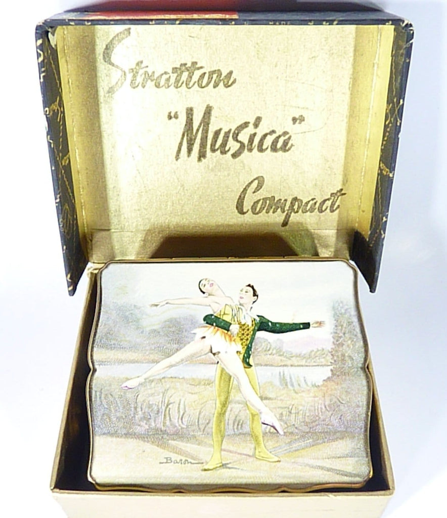 Boxed Vintage Stratton Musica Ballet Themed Music Box