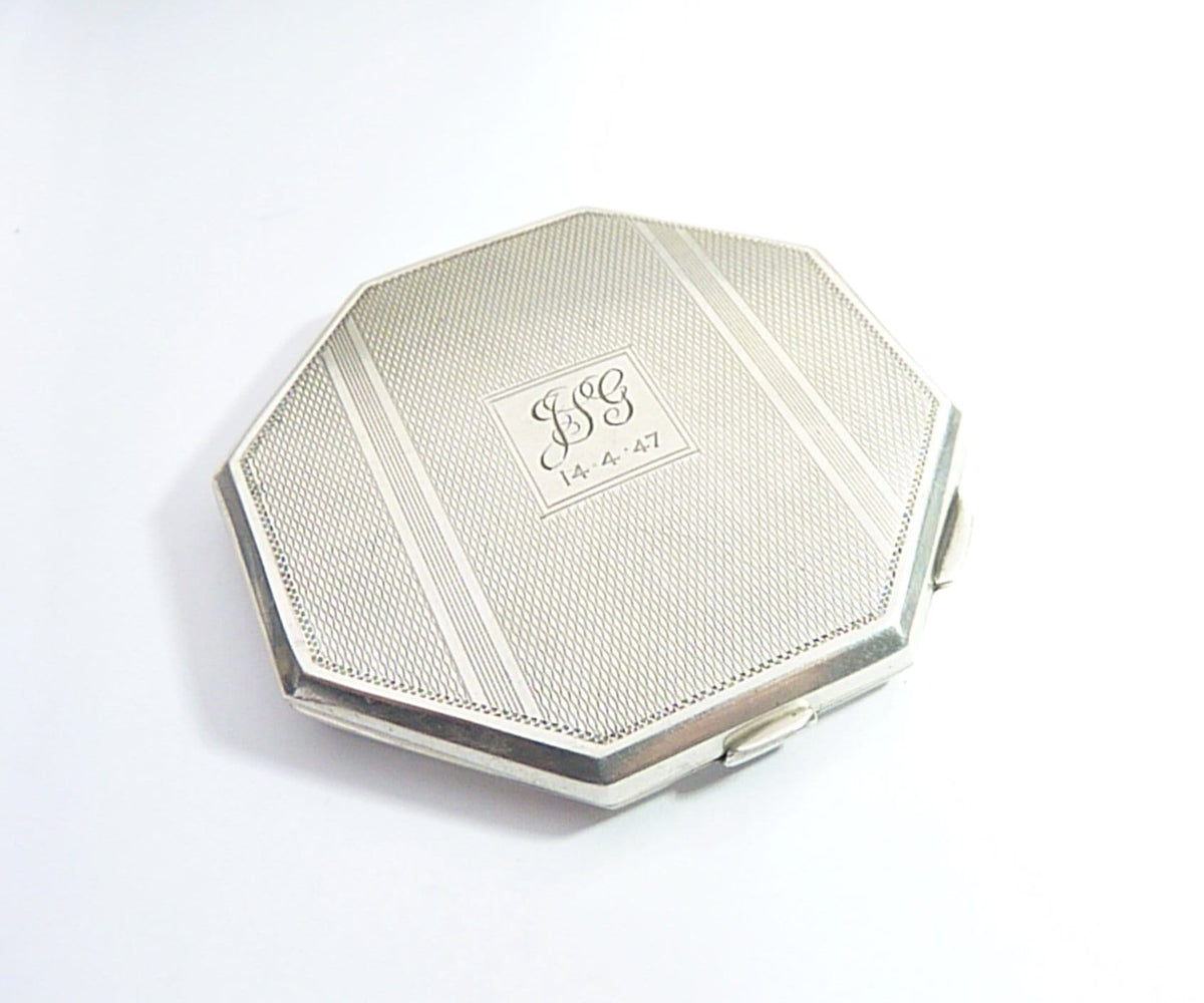 Broadway & Co. Hallmarked Silver Loose Powder Compact