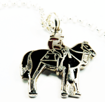 Canadian Mountie Pendant Sterling Silver Necklace