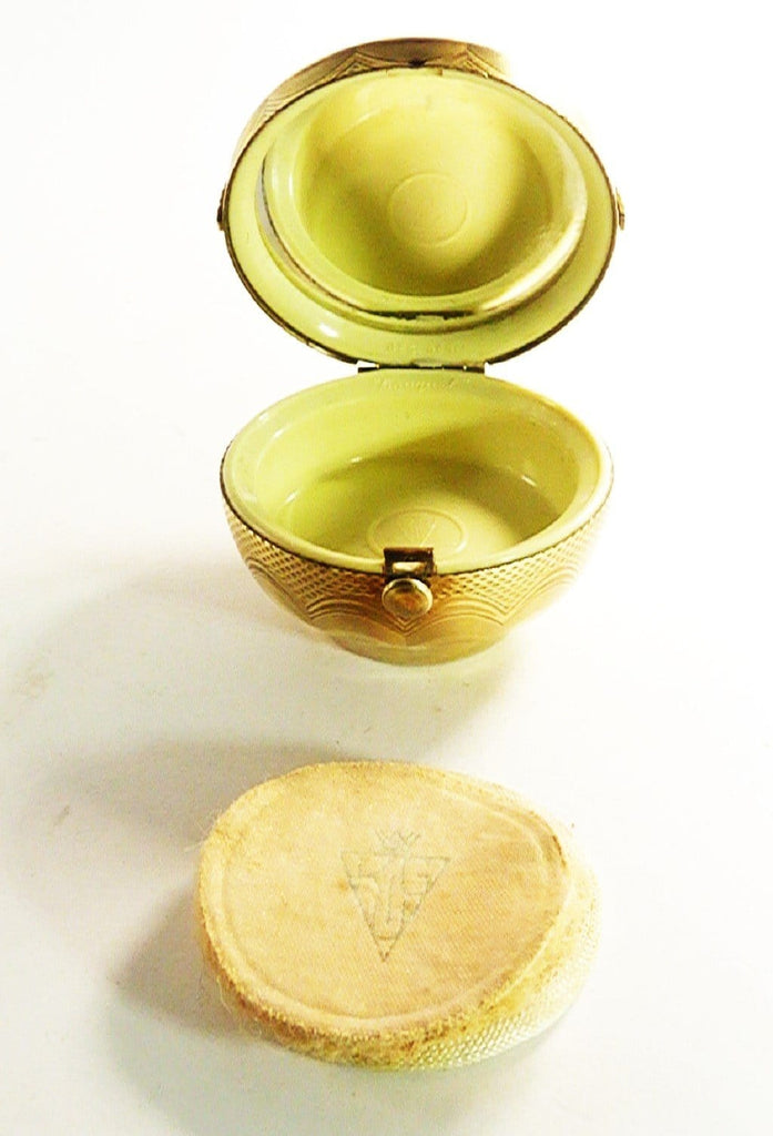 Celluloid Basket Compact Mirror