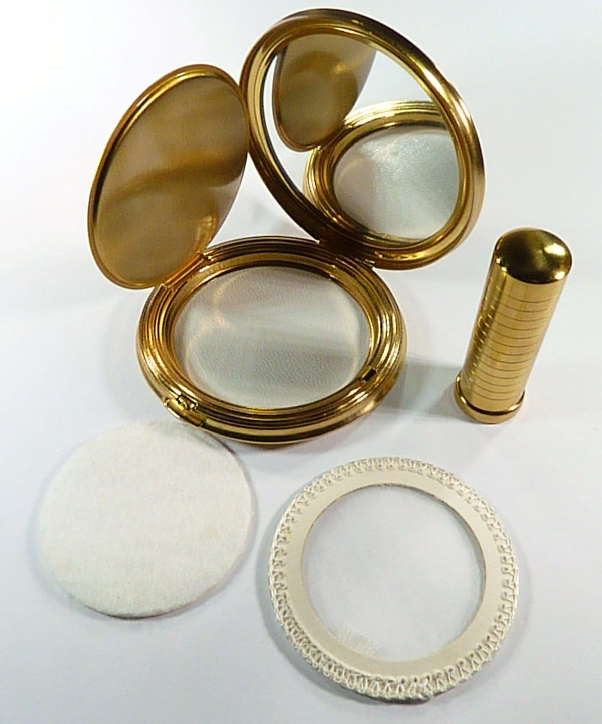 Clean Unused Vintage Compact Mirror