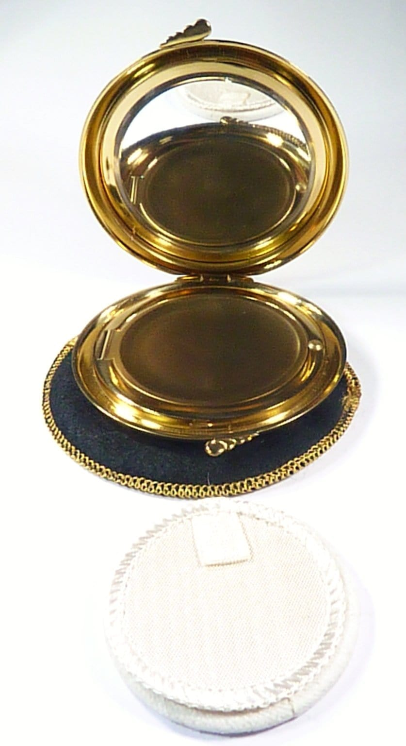 Compact Case With Mirror For Loose Face Powder
