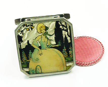 Crinoline Lady Art Deco Powder Compact
