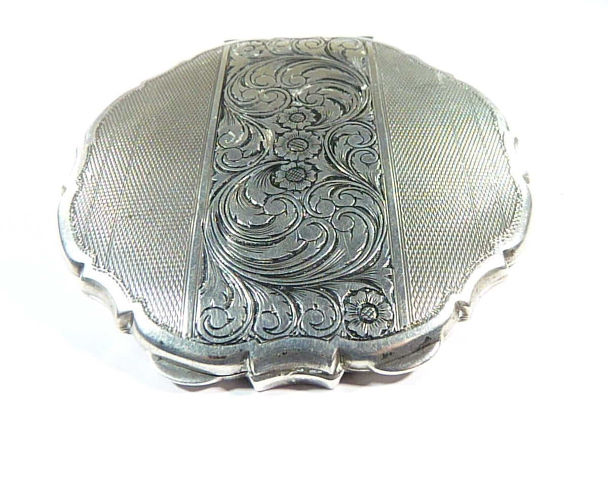 Czechoslovakian Silver Loose Powder Compact