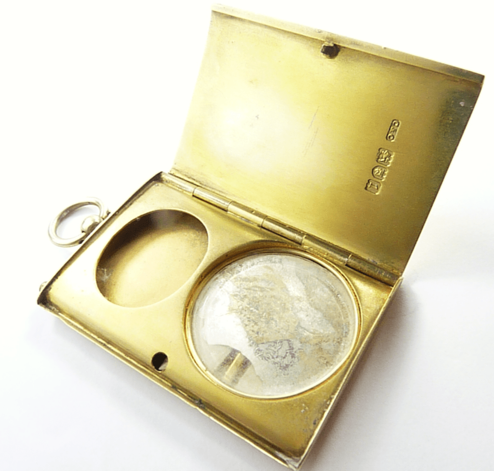 Edwardian Silver Compact Case