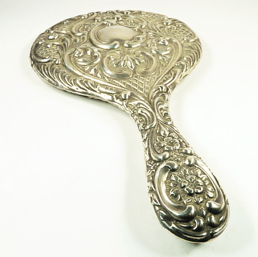 Edwardian Sterling Silver Hand Mirror