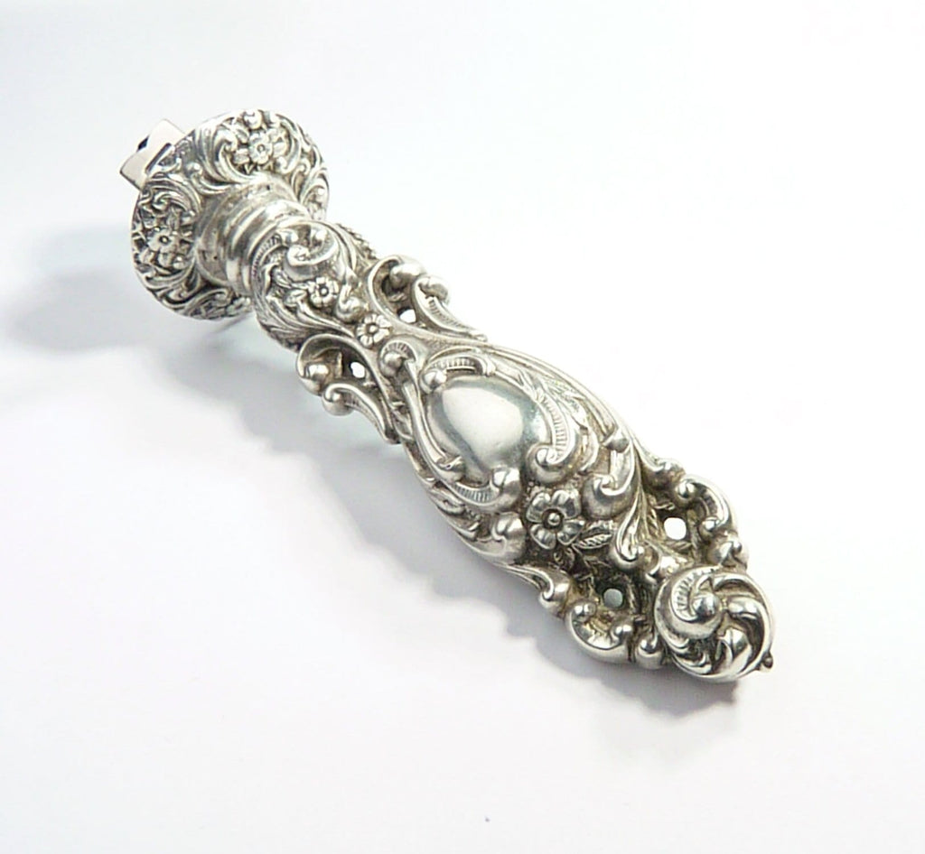 Edwardian Silver Ornate Seal For Wax Stamping
