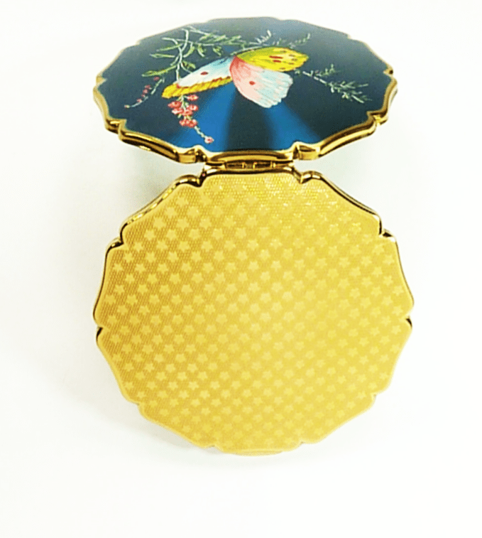 Enamel Stratton Butterfly Powder Compact