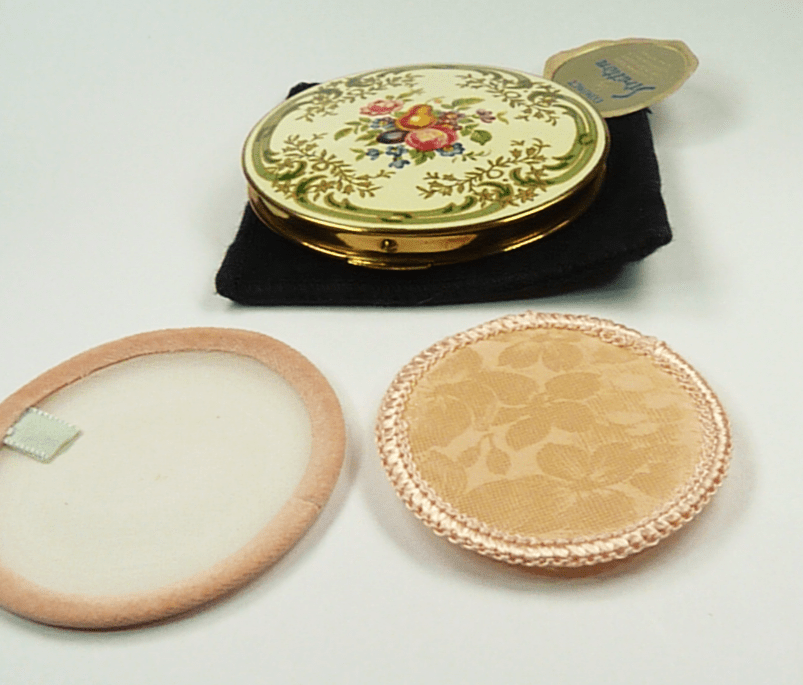 Enamel Vintage Compact Mirror Unused.