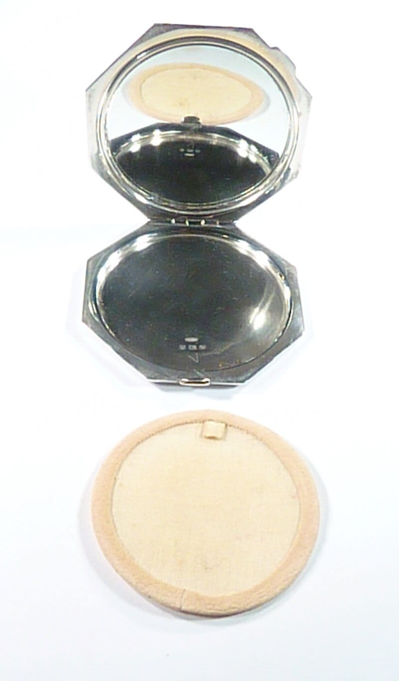 Engraved Solid Silver Compact Mirrors