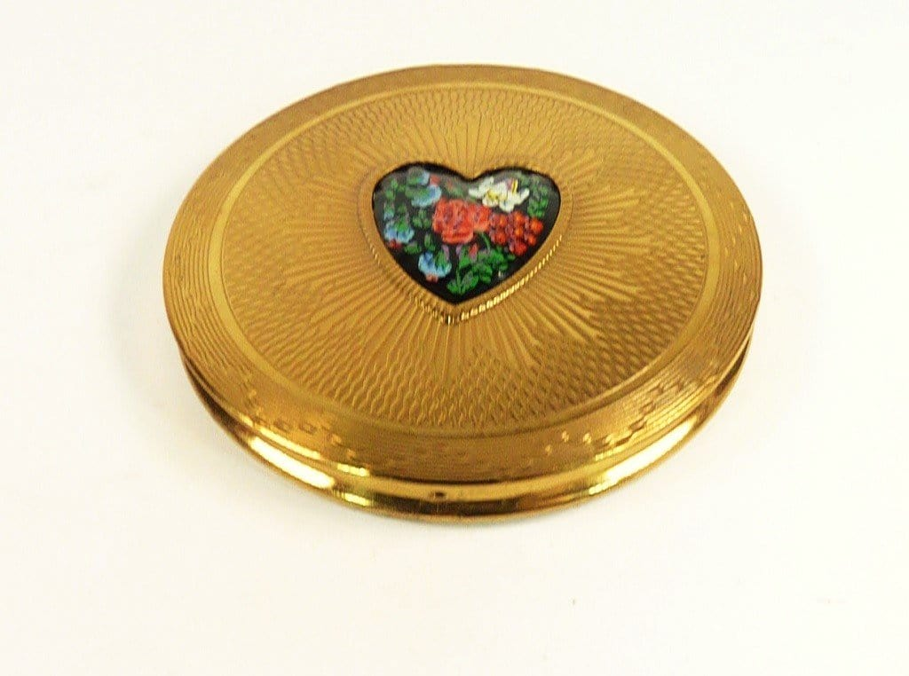 Engraved Vintage Compact Mirror