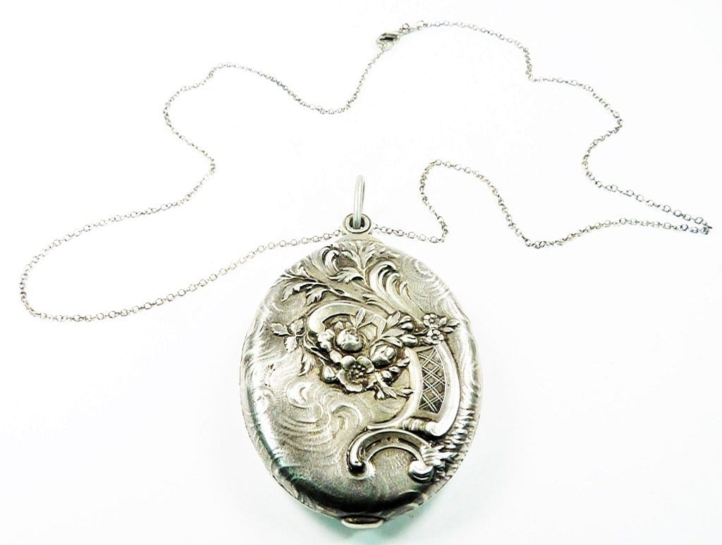 French Silver Art Nouveau Locket