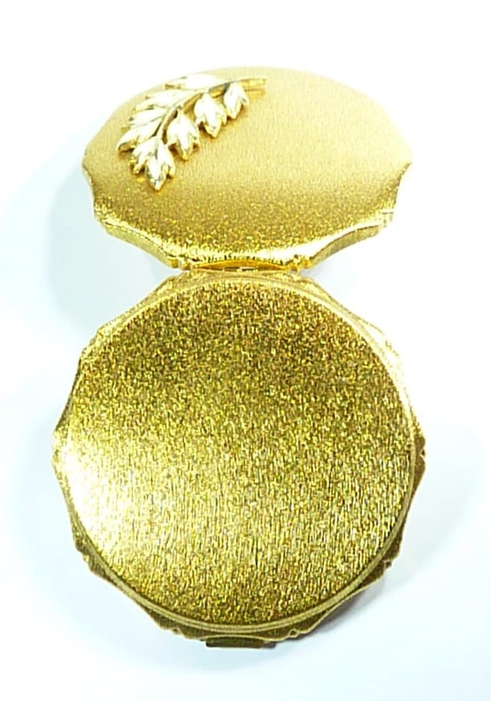 Gold And Cream Compact Mirror