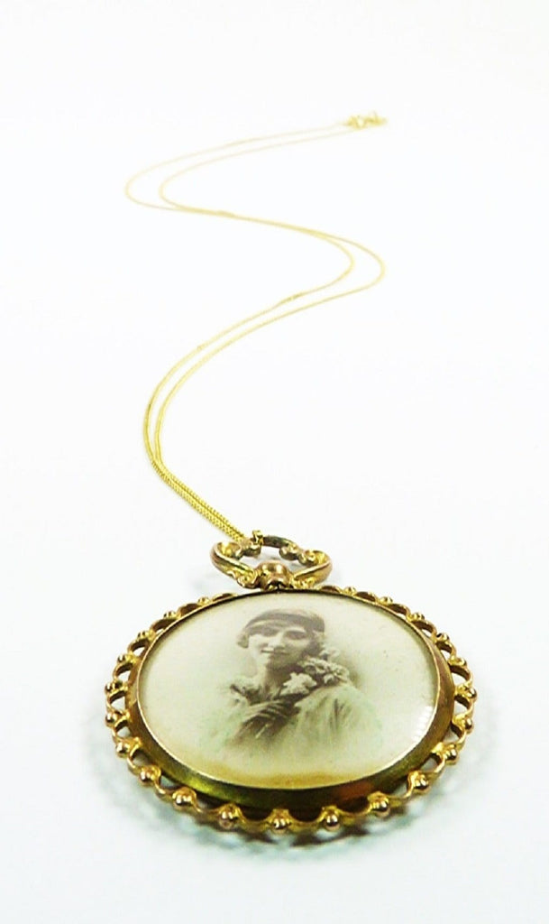 Gold Photo Locket From 1900s England