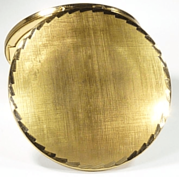 Gold Plated Compact Mirror