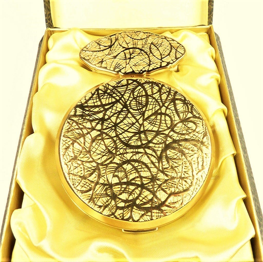 Gold Plated Stratton Compact Gift Set