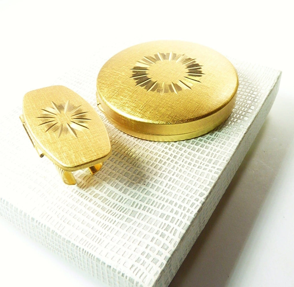 Golden Compact Mirror
