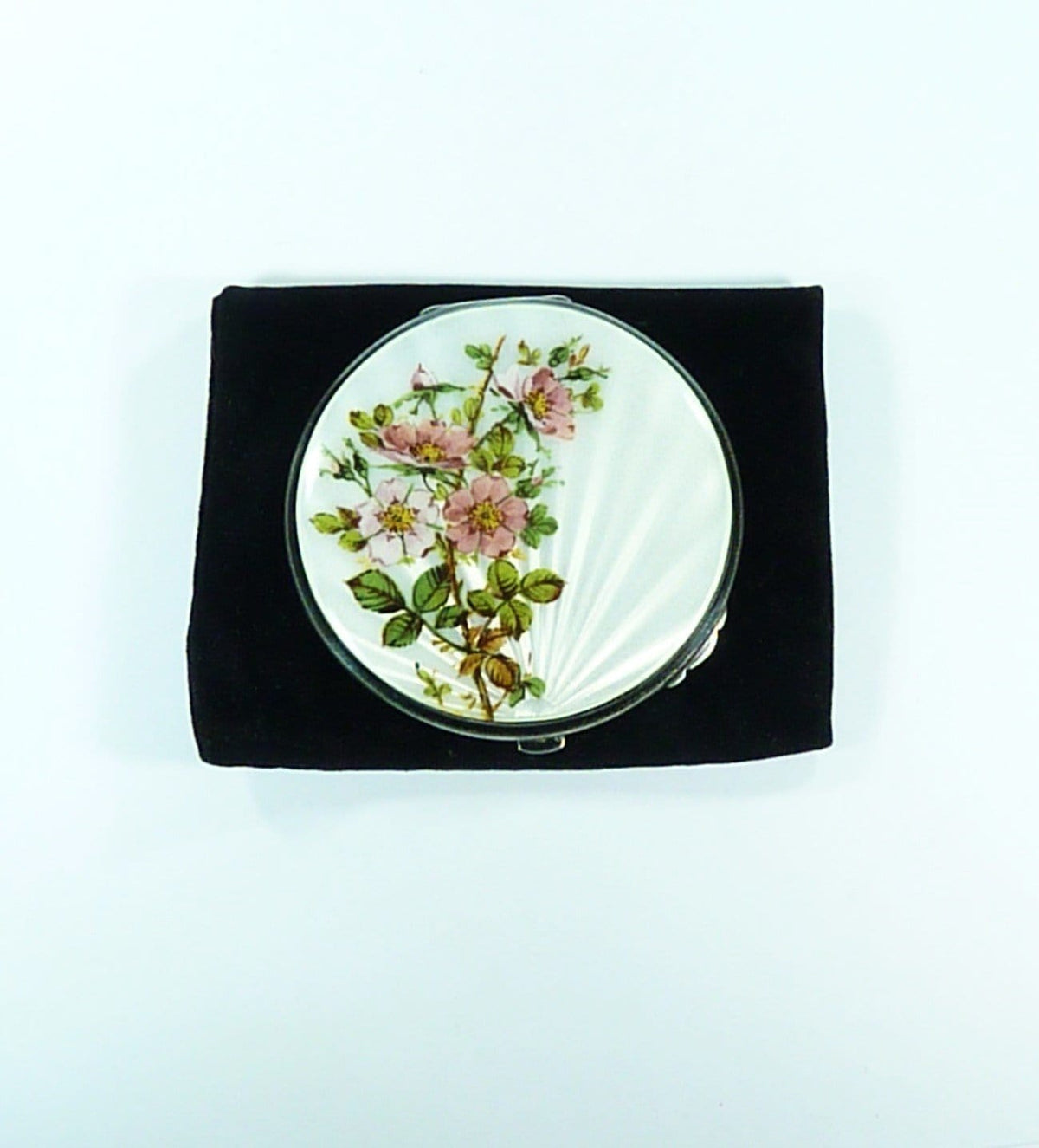Guilloche Enamel Powder Compact