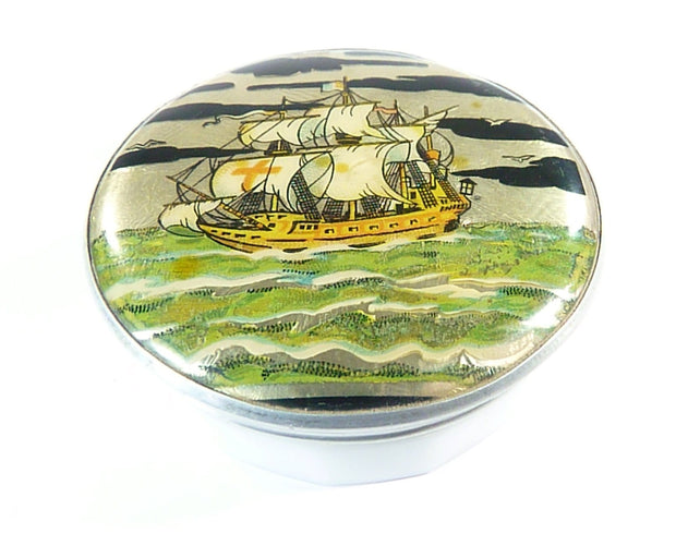 Gwenda Tin Foil Ship Powder Container