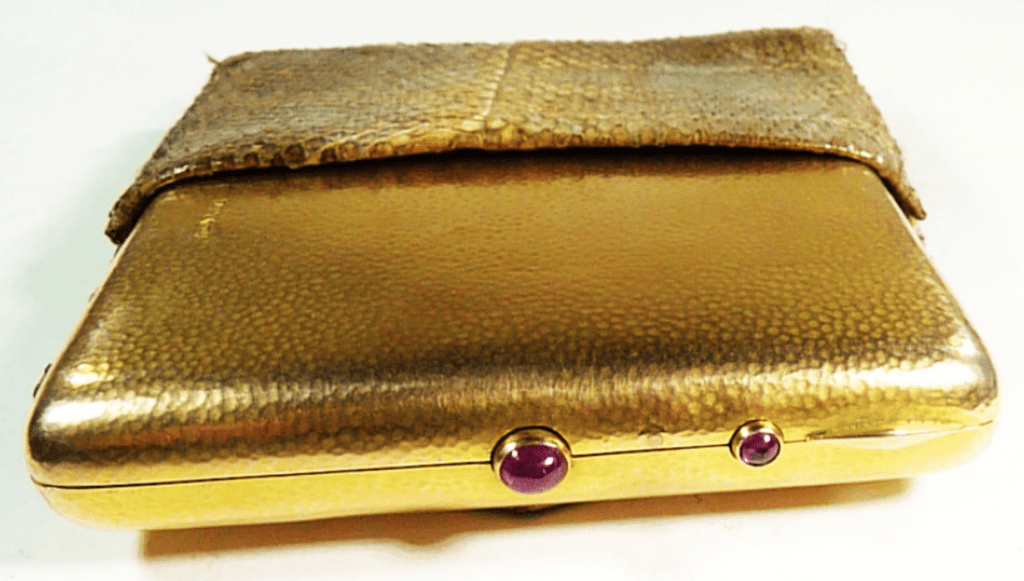 Hallmarked Gold And Ruby Edwardian Necessaire.