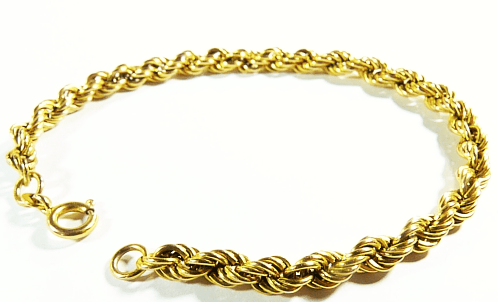 yellow gold twisted rope bracelet vintage