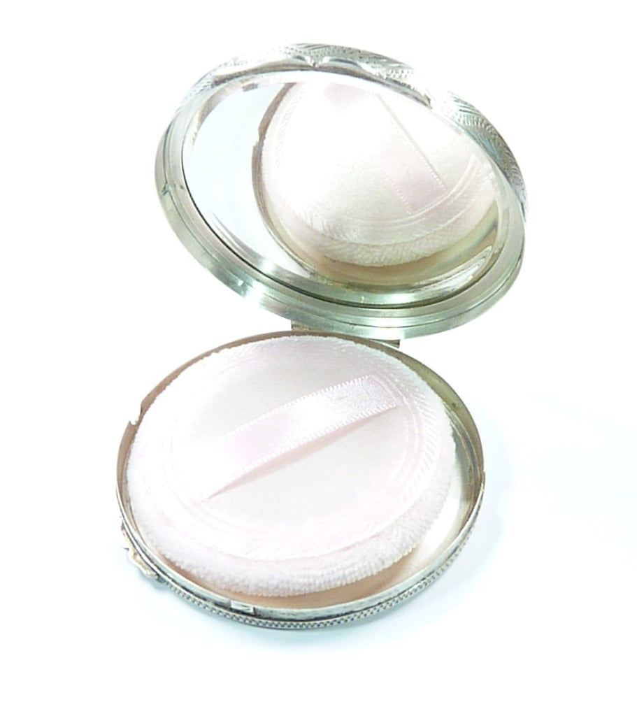 Hallmarked Silver Compact Mirror For Max Factor Creme Puff