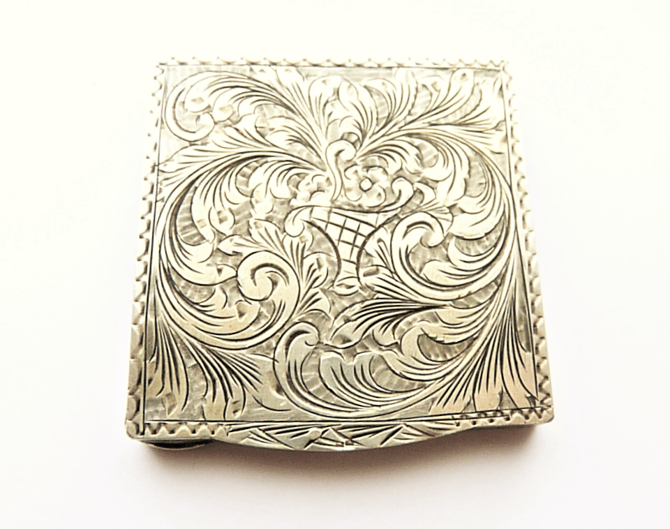 Hallmarked Silver Loose Powder Compact.