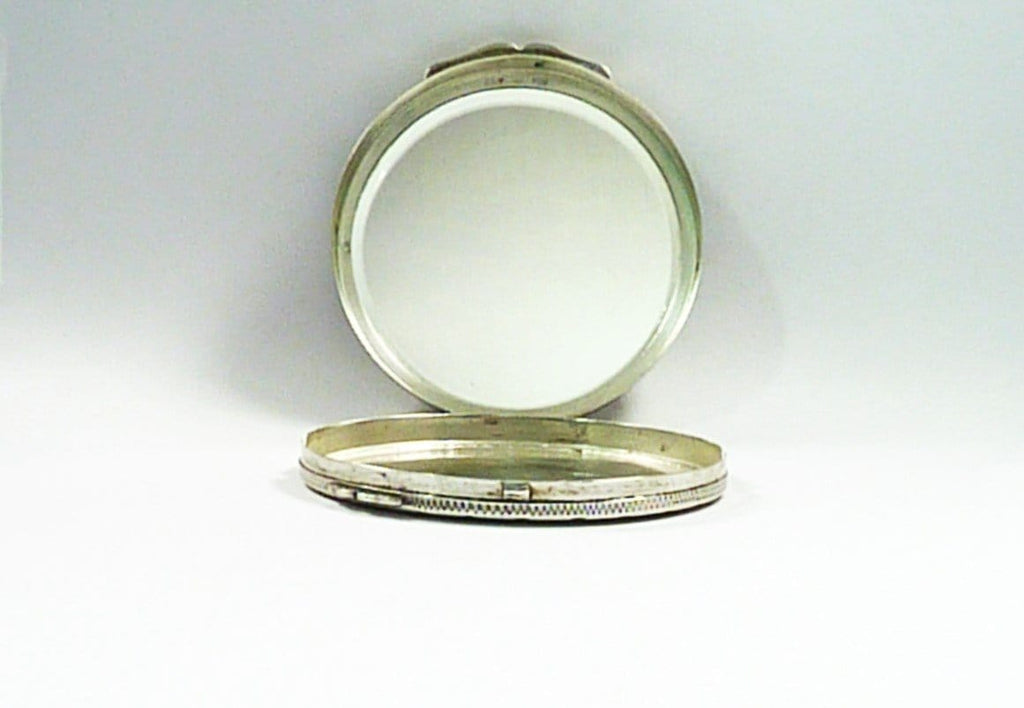 Hallmarked Silver Powder Compact For Max Factor Creme Puff