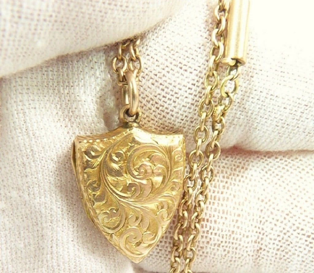 Hallmarked 9ct Gold Antique Locket