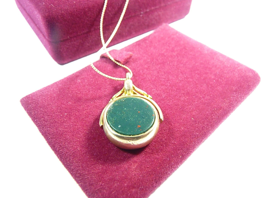 Hallmarked Antique Gold Bloodstone Fob