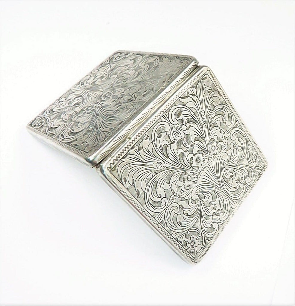Hallmarked Italian Silver Loose Powder Compact